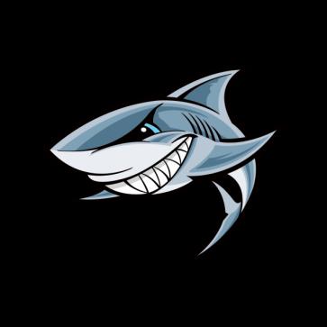 Cartoon Shark Showing Teeth 01777 01777