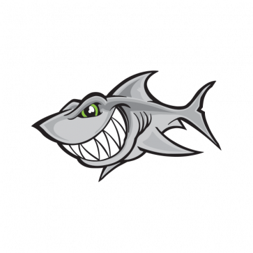 Cartoon Shark Smile 01788