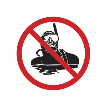 No Scuba Dive Sign 01863