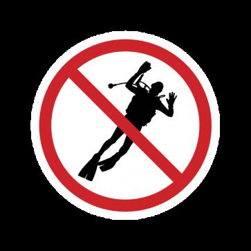No Scuba Dive Sign 01865