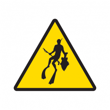 Caution Spear Fishing Diving 01872