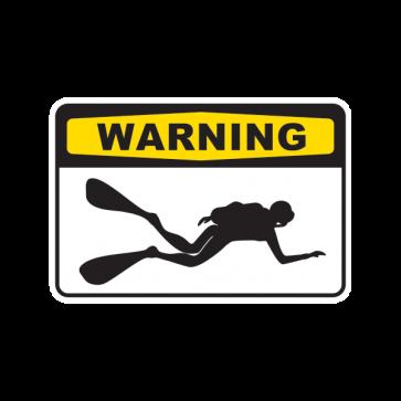 Warning Scuba Diver 01876