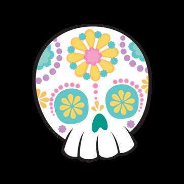 Flower Power Skull 02404