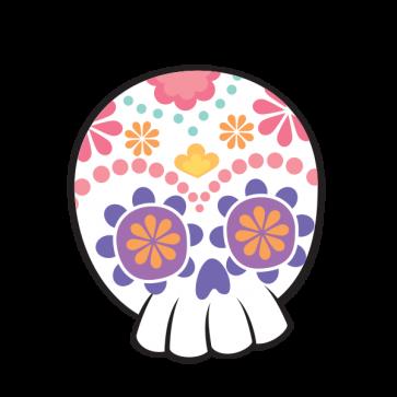 Flower Power Skull 02406
