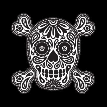 Flower Power Skull 02411