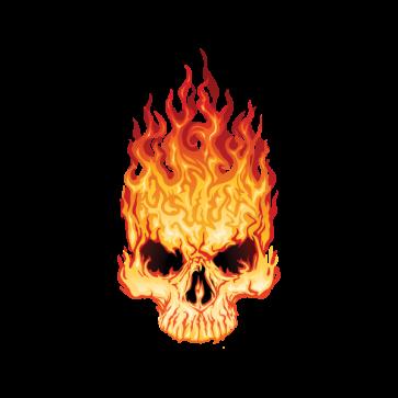 Flaming Skull 02434