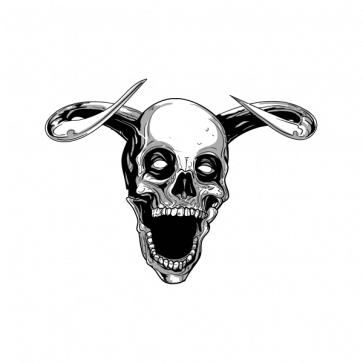 Terror Evil Skull With Open Mouth 02457