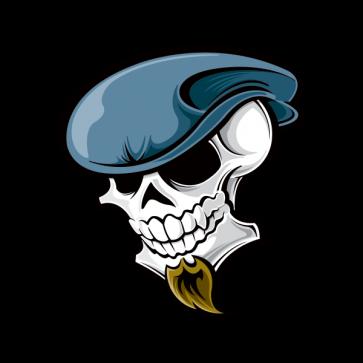 Skull French Painter Artist 02467