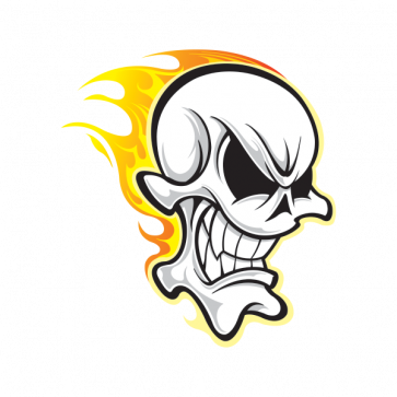 Skull With Flames 02468