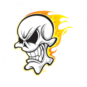 Skull With Flames 02469