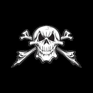Skull Crossbones Printed Vinyl 02470