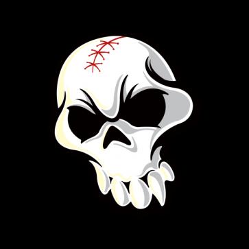 White Skull. Printed Vinyl. 02480