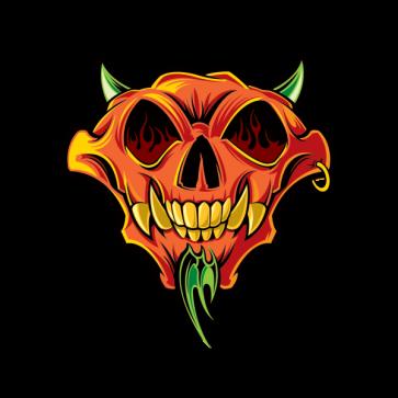 Devil Demon Skull 02485