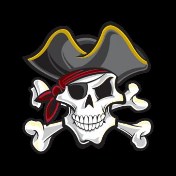 Pirate Skull 02490