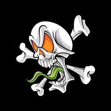 Cartoon Skull Screaming 02495