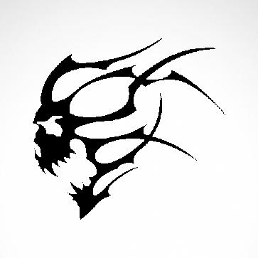 Flames Skull 02503