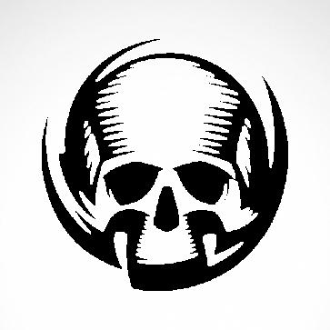 Engrave Skull 02508