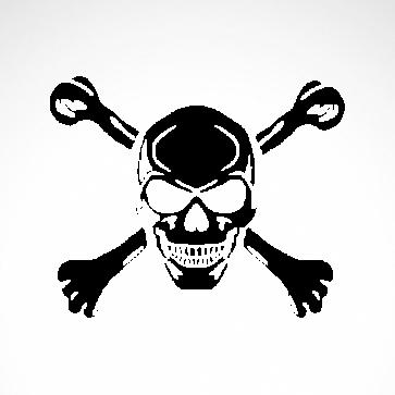 Cross Bones Skull 02512
