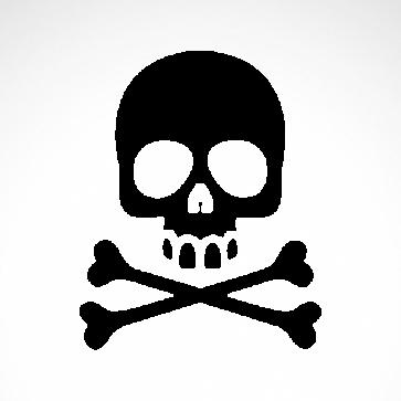 Cross Bones Skull 02541