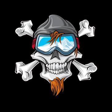 Skier Skull 02547