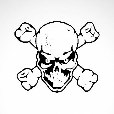 Crossbones Skull 02553