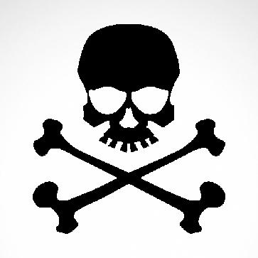 Crossbones Skull 02554