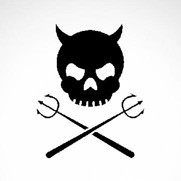 Devil Skull 02557
