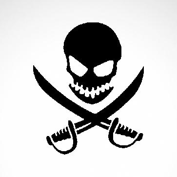 Pirate Skull 02559