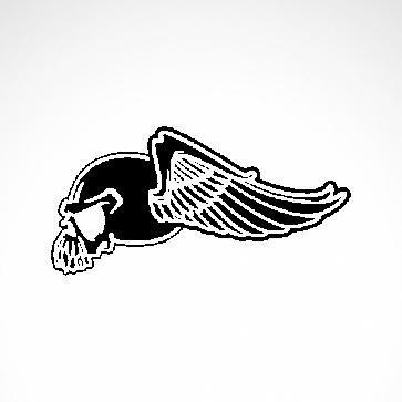 Eagle Wings Skull 02563