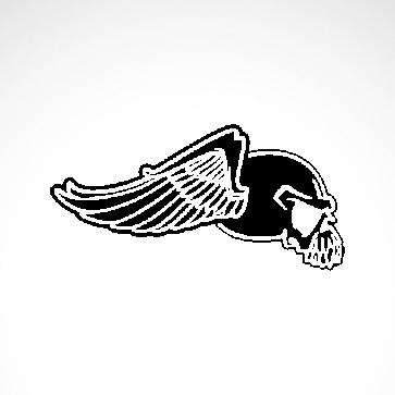 Eagle Wings Skull 02564