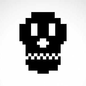 Digital Arcade Skull 02572