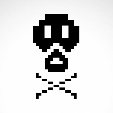 Pixel Art Arcade Skull 02575