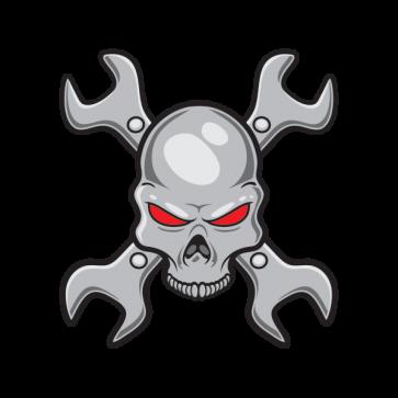 Mechanic Skull 02576