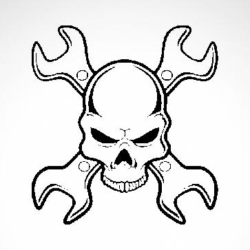 Mechanic Skull 02577