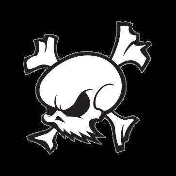 Crossbones Skull 02587