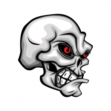 Skull With Red Eyes. 02592