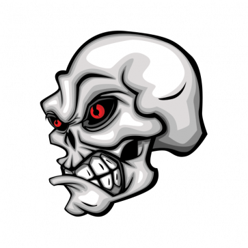 Skull With Red Eyes. 02593