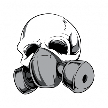 Skull With Gas Mask 02595