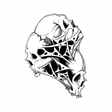 Combination Of Skull 02596