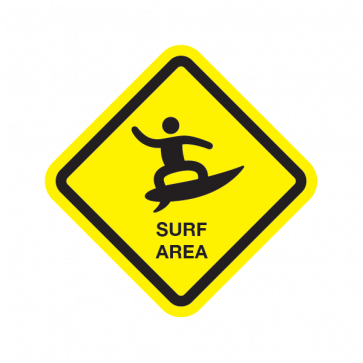 Surf Area Sign 03183