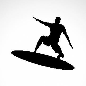 Surfer Surfboard 03310