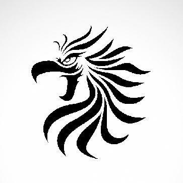 Tribal Eagle Head 03387
