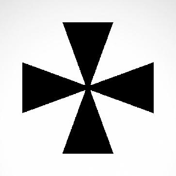 Cross Patonce Fleury Symbol 03622