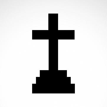 Simple Grave Cross 03651