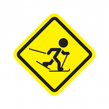 Ski Sports Area Sign 05004