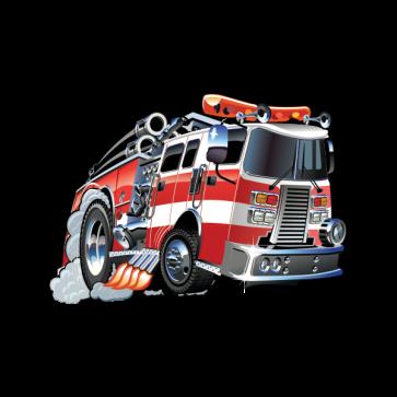 Caricature Fire Fighting Truck 05897