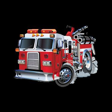 Caricature Fire Fighting Truck 05899