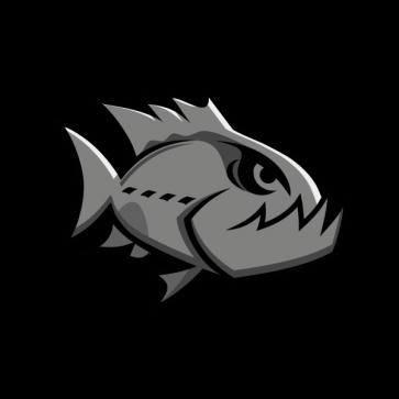 Angry Gray Piranha 05943