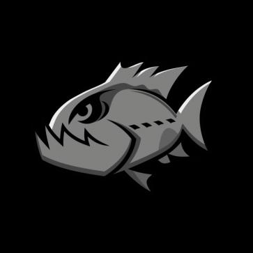 Angry Gray Piranha 05944