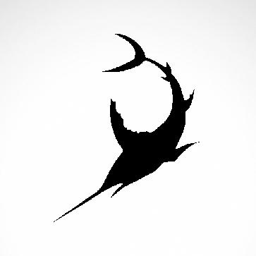 Sailfish Marlin Silhouette 05950